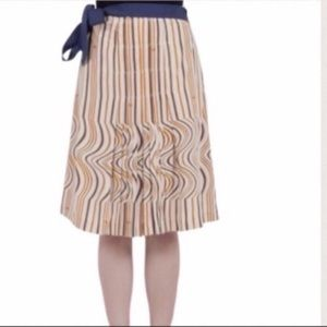 🏵TORY BURCH🏵STRIPED MONOGRAMMED SKIRT🏵